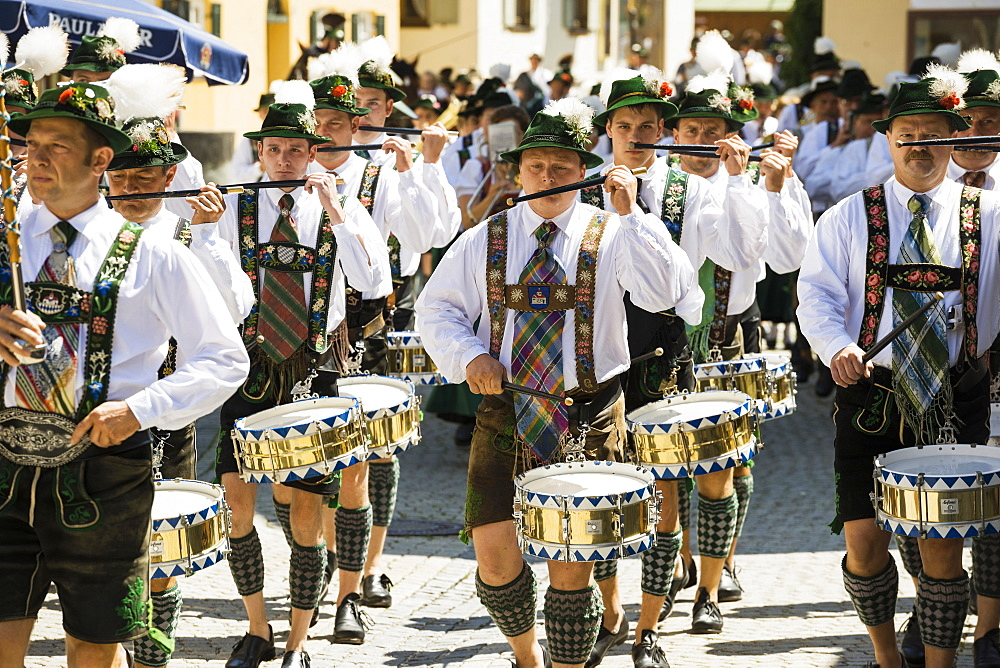 traditional prozession, Garmisch-Partenkirchen, Upper Bavaria, Bavaria, Germany - 1113-102689