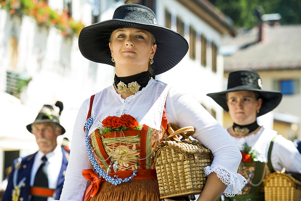 traditional prozession, Garmisch-Partenkirchen, Upper Bavaria, Bavaria, Germany - 1113-102690