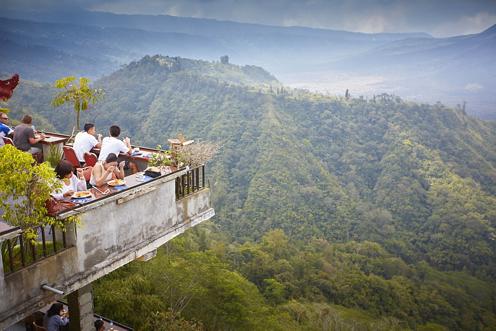 Restaurant with view towards the crater, Kintamani, Bali, Indonesia - 1113-102754