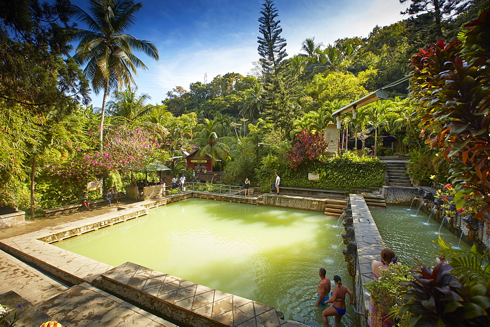 Pool, Hot Springs Air Panas Banjar at Bubunan, Bali, Indonesia