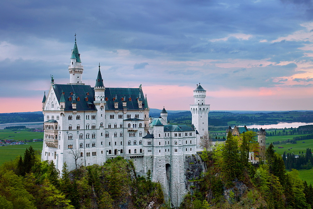 Sunset, Neuschwanstein Castle, Castle, Fairytale Castle, Bavaria, Germany