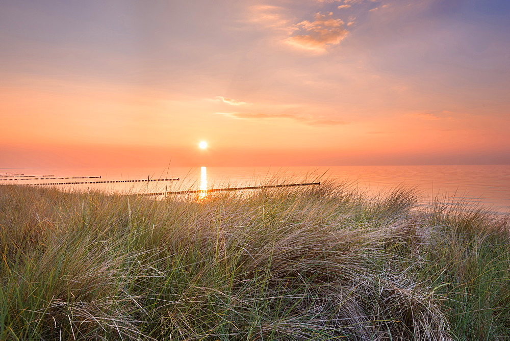 Summer, Sun, Sunset, Beach, Baltic Sea, Mecklenburg, Germany, Europe