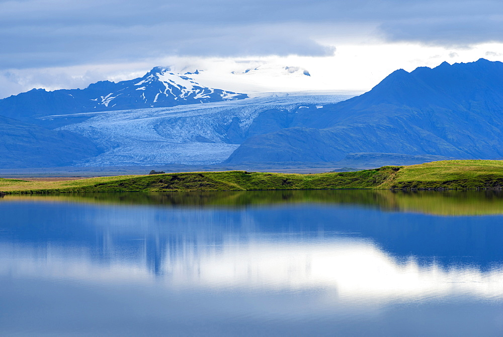 Glacier, Glacier Tongue, Reflection, Vatnajoekull, Pveit, Skrida, Iceland, Europe
