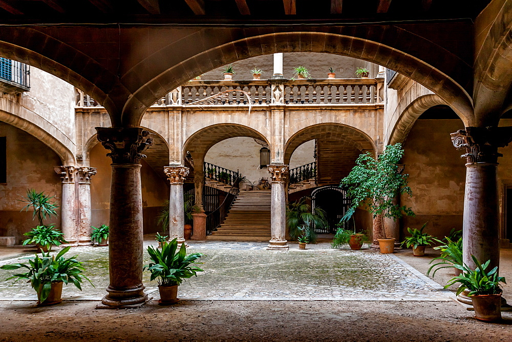 Backyard or Patio in the old city of Palma, Palma de Mallorca; Balearic Islands; Spain; Europe'