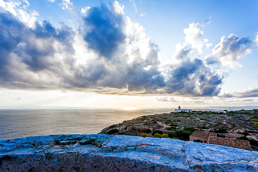 The old Tower of Cap Blanc 'Torre vigia de Cap Blanc', Mallorca, Balearic Islands, Spain