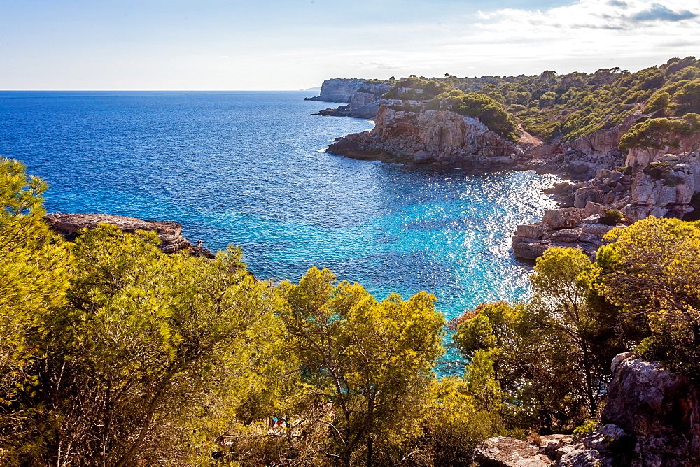 Idyllic beach of Cala s'Almunia, Mallorca, Balearic Islands, Spain