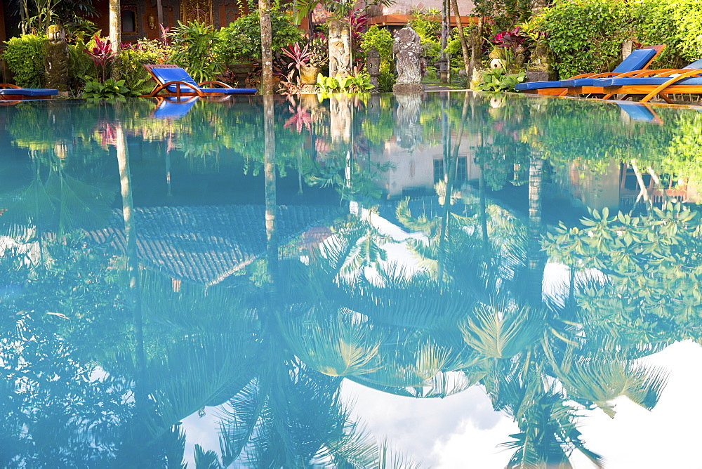 Hotel complex with swimming pool, Ubud, Gianyar, Bali, Indonesia