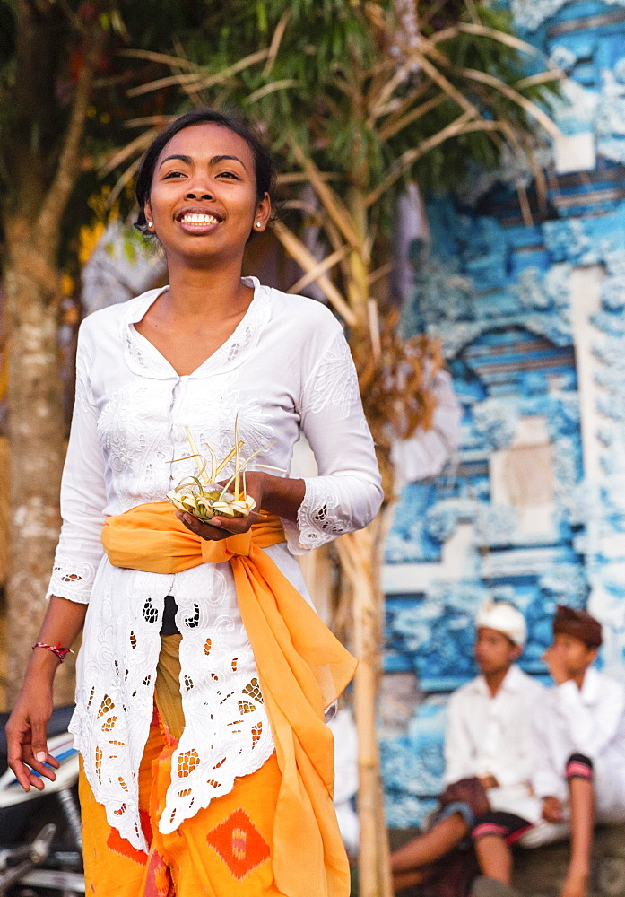 Balinese people at Odalan temple festival, Iseh, Sidemen, Karangasem, Bali, Indonesia