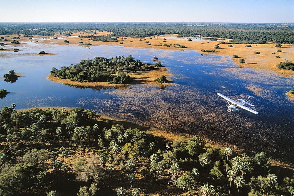 Flight Safari, Okavango-Delta, Botswana, Africa