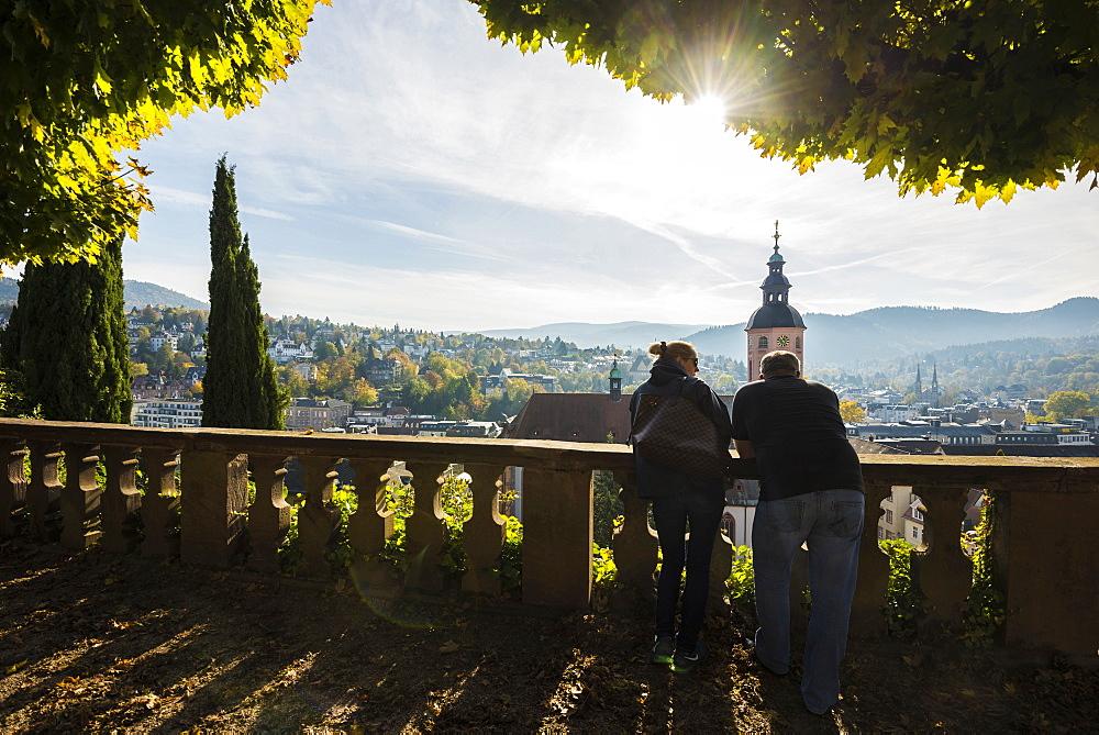 View of Baden-Baden, Black Forest, Baden-Wuerttemberg, Germany