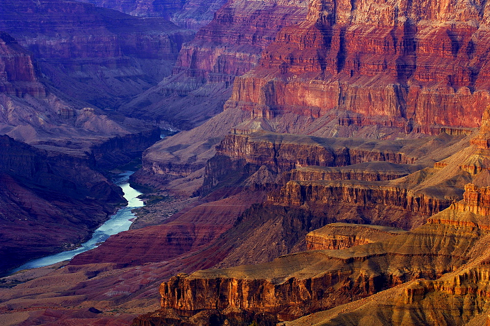 The Colorado River in a gorge at Grand Canyon, Arizona, North America, America - 1113-103311