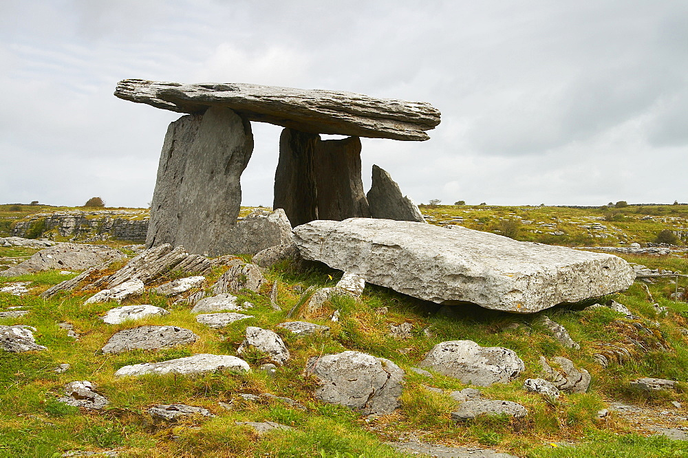 outdoor photo, The Burren: Poulnabrone Megalithic Tomb, County Clare, Ireland, Europe