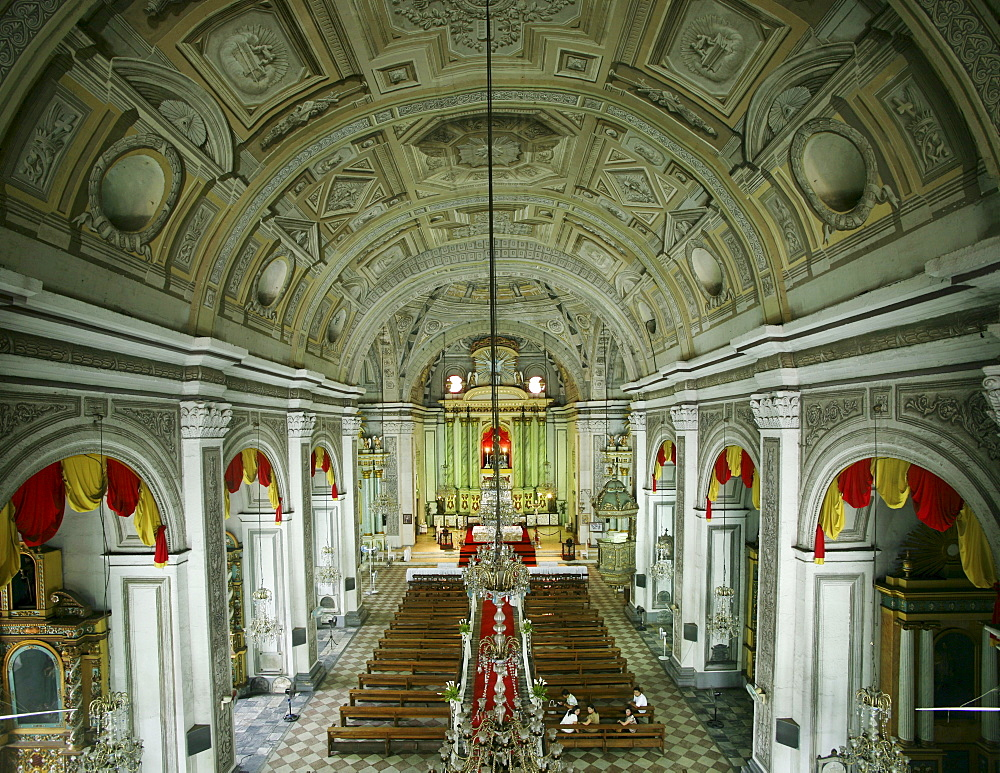 Interior view of San Agustin church at Intramuros district, Manila, Luzon Island