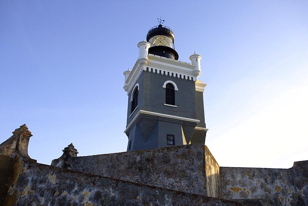 Lighthouse, Castillo San Felipe del Morro in Old San Juan, San Juan, Puerto Rico