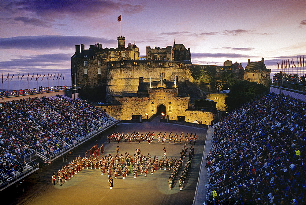 Edinburgh Military Tattoo, Edinburgh castle, Edinburgh, Scotland, Great Britain, Europe