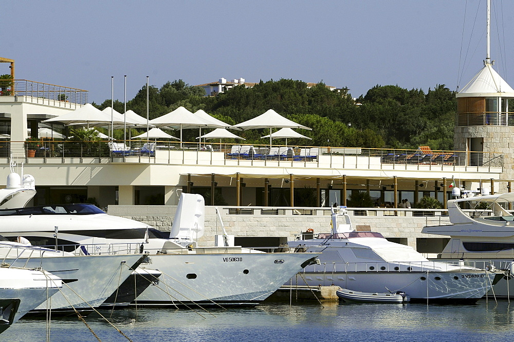 Yachts at harbour in the sunlight, Porto Cervo, Costa Smeralda, North Sardinia, Italy, Europe