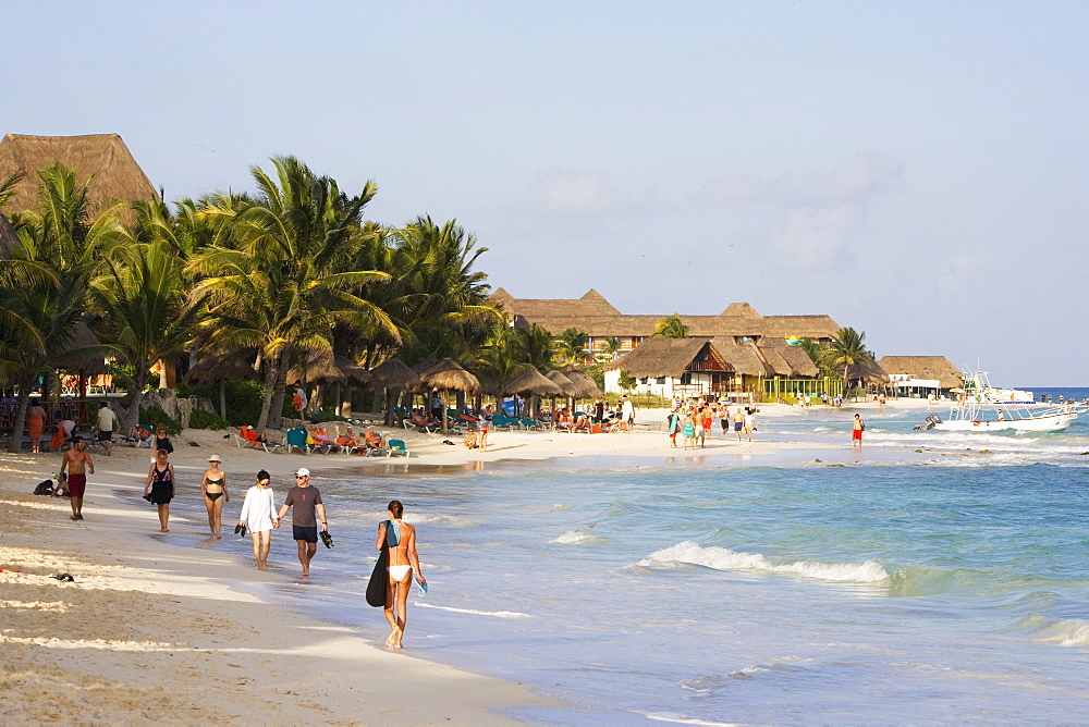 Mamitas beach in Playa del Carmen, State of Quintana Roo, Peninsula Yucatan, Mexico