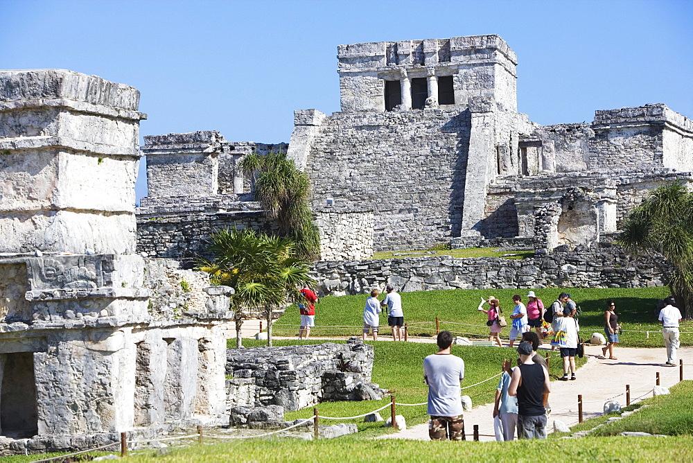 Mayan temple ruin in Tulum, State of Quintana Roo, Peninsula Yucatan, Mexico