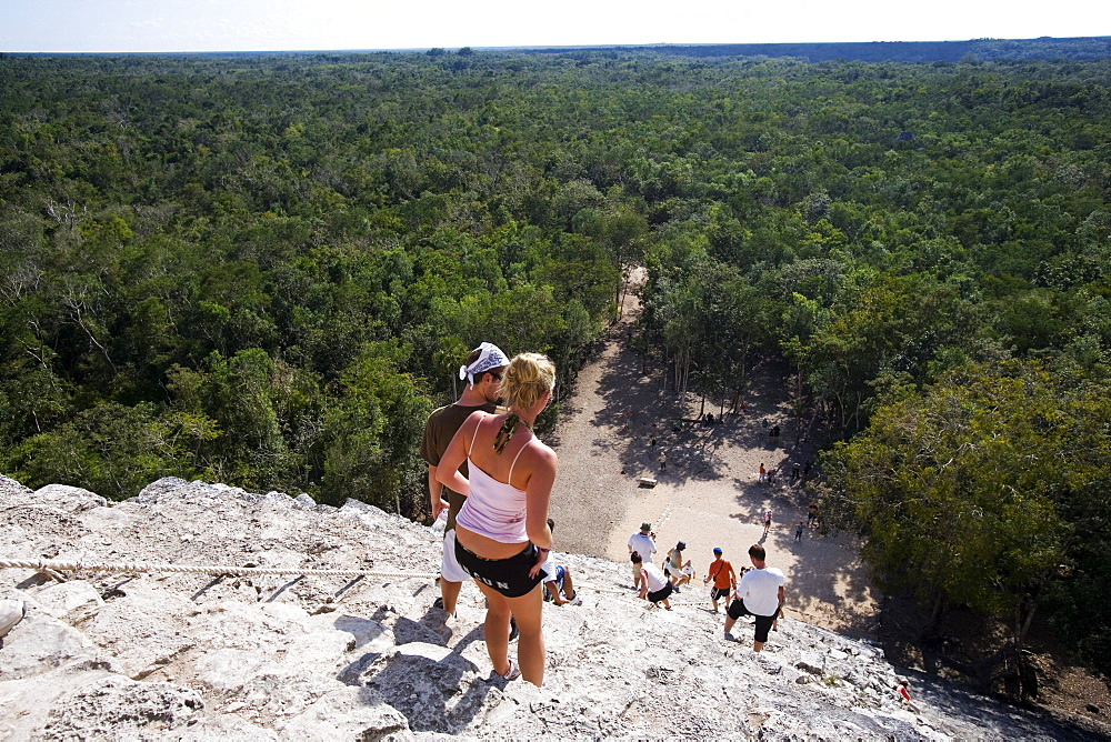 Mayan temple ruins in coba, State of Quintana Roo, Peninsula Yucatan, Mexico