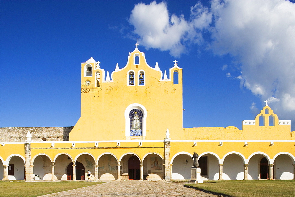 St. Antonio of Padua is a Franciscan monastery built with stones taken from a pyramid, State of Yucatan, Peninsula Yucatan, Mexico