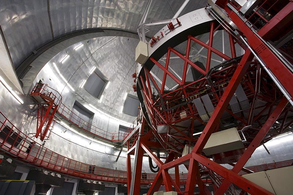 Gran Telescopio Canarias, GranTeCan, GTC, the world's largest mirror telescope, Observatorio Astrofisico, astronomy, astrophysics, cupola of the observatory, Roque de los Muchachos, Caldera de Taburiente, La Palma, Canary Islands, Spain, Europe