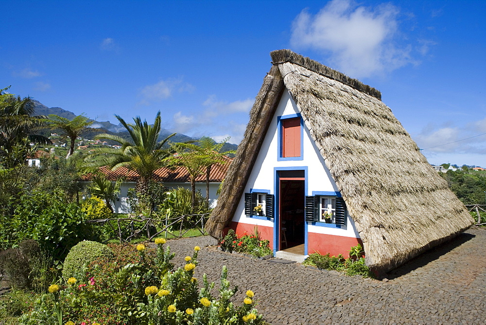 Traditional A-framed Palheiro House, Santana, Madeira, Portugal