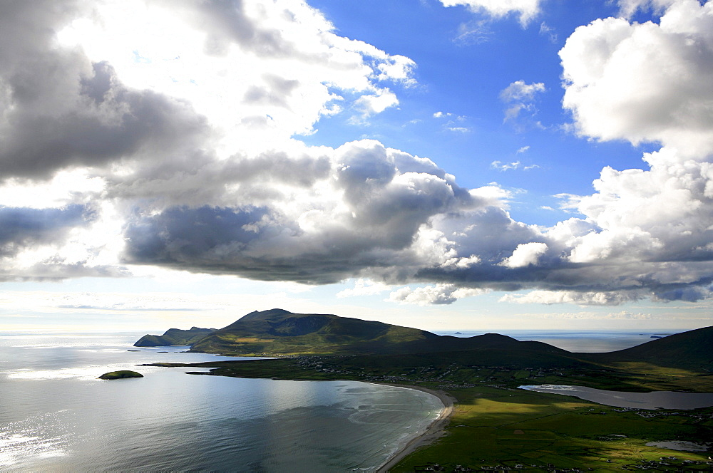 View across Keel and Achill Head, Achill Island, County Mayo, west coast, Ireland, Europe