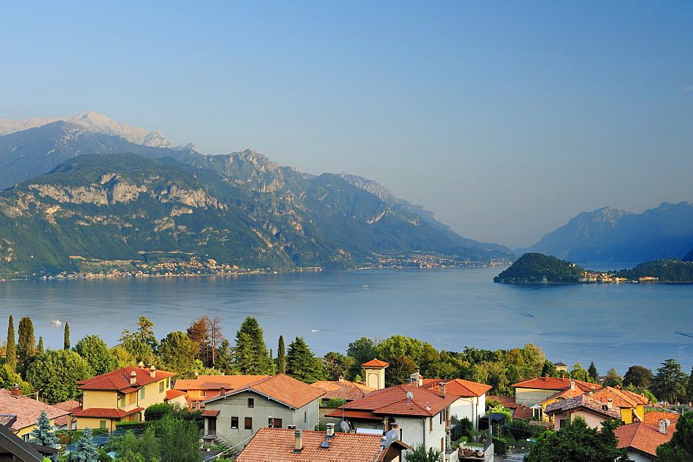Menaggio at Lake Como, Bergamo Alps in background, Menaggio, Lombardy, Italy