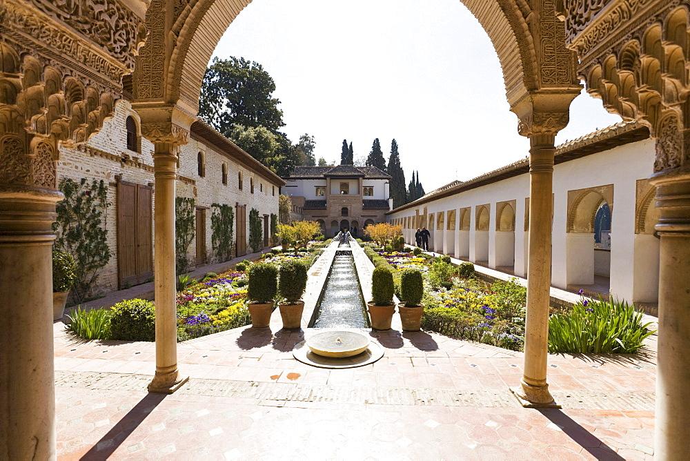 Garden of Generalife, Alhambra, Andalucia, Province Grenada, Spain