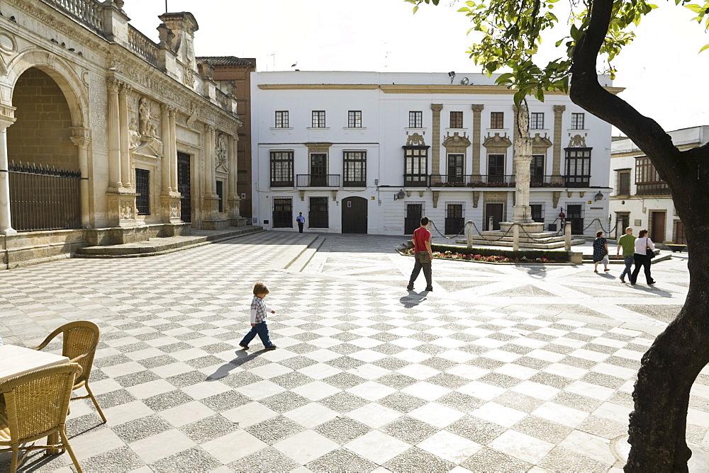Plaza de la Asuncion in Jerez de la Frontera, Andalucia, Province Cadiz, Spain