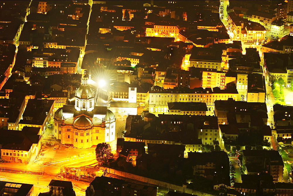 Cathedral at night, Como, Lombardy, Italy