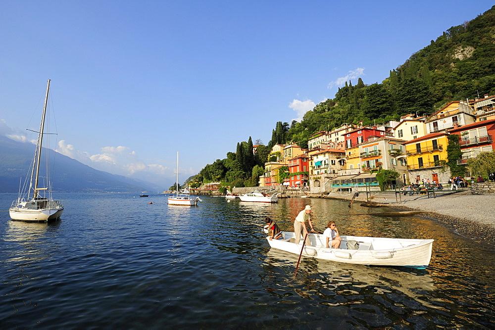 Boats on Lake Como, Varenna, Lombardy, Italy