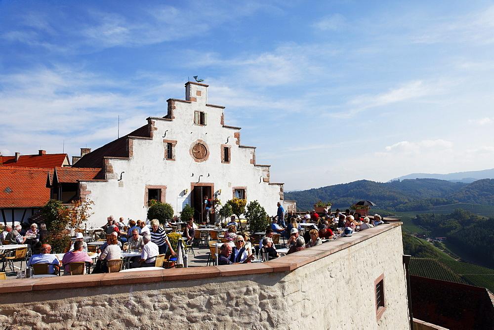 Cafe, Staufenberg castle, Durbach, Baden-Wurttemberg, Germany