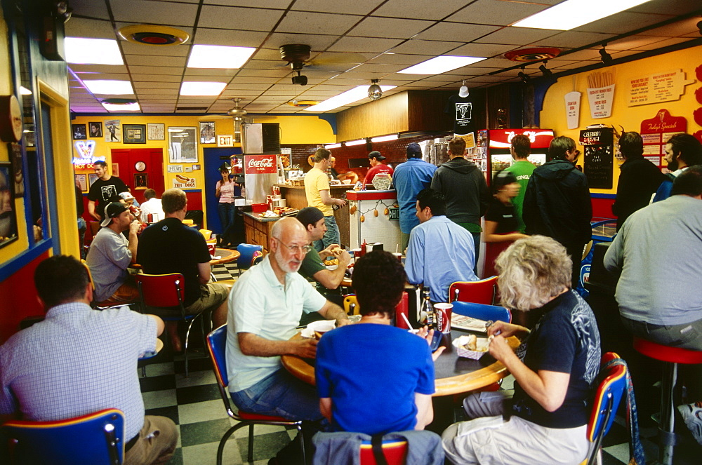 Restaurant Hot Dough`s, Chicago, Illinois, USA