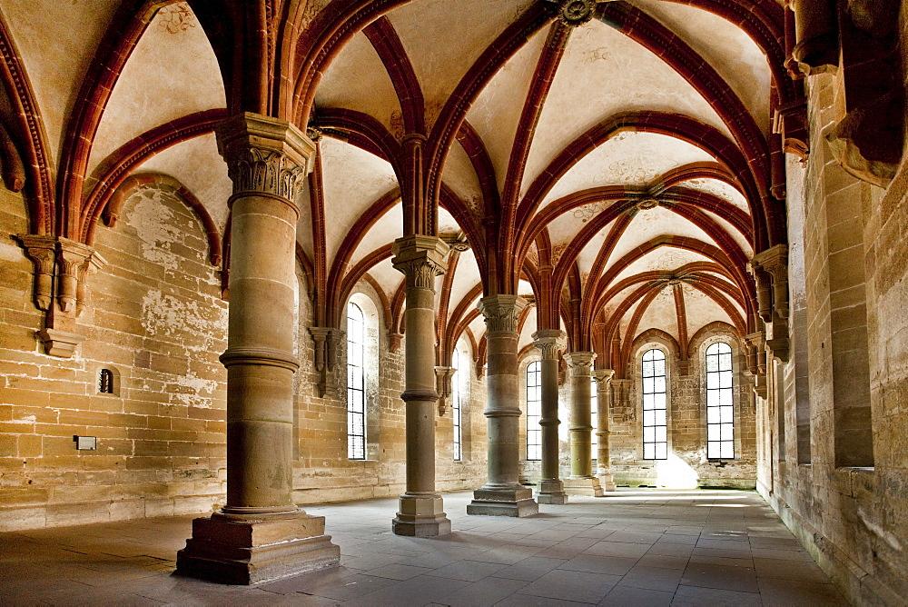 Refectory, Cistercian monastery, Maulbronn, Baden-Wuerttemberg, Germany