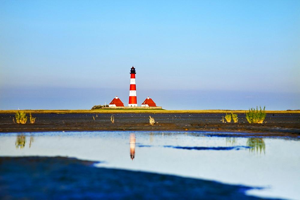 Westerheversand Lighthouse, Westerhever, Schleswig-Holstein, Germany