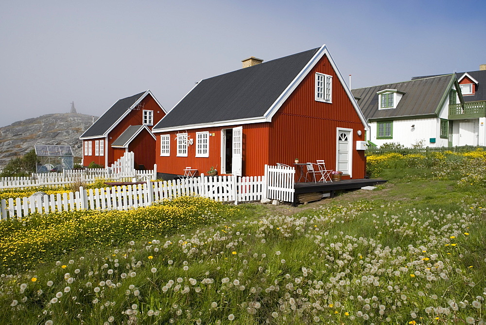 Wooden houses at Kolonihavn district, Nuuk, Kitaa, Greenland