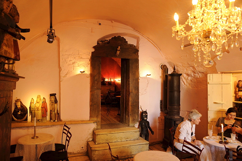 Room with vault at Cafe Camelot, Krakow, Poland, Europe