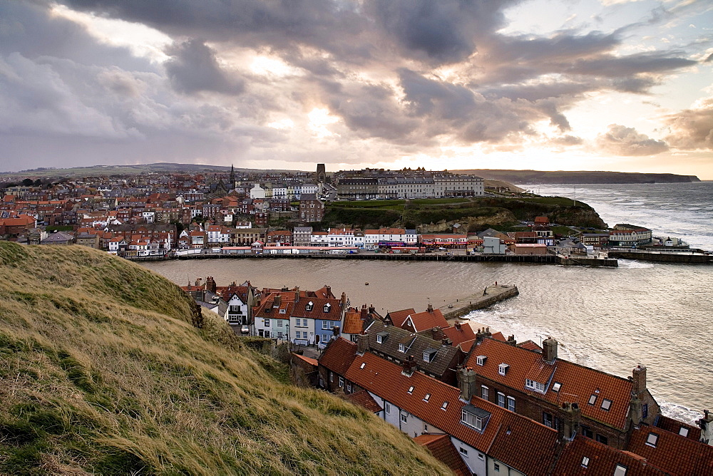 View upon Whitby, North Yorkshire, England, Great Britain, Europe