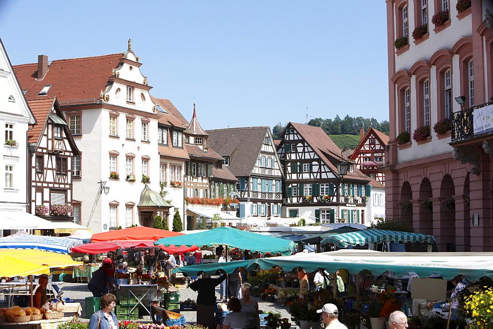 Market, Gengenbach, Black Forest, Baden-Wuerttemberg, Germany