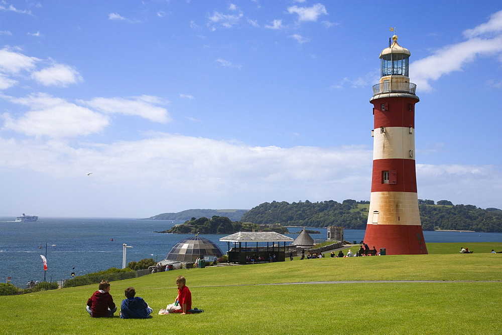 Smeaton's Tower, the Hoe, Plymouth, Devon, England, United Kingdom