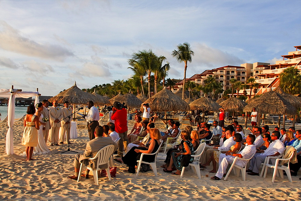 Aruba, Palm Beach, West Indies, Dutch Carribean, Central America, wedding ceremony