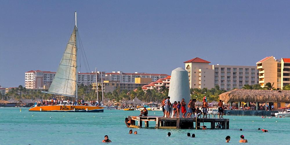 Aruba, Palm Beach, West Indies, Dutch Carribean, Central America, Palm Pleasure Catamaran