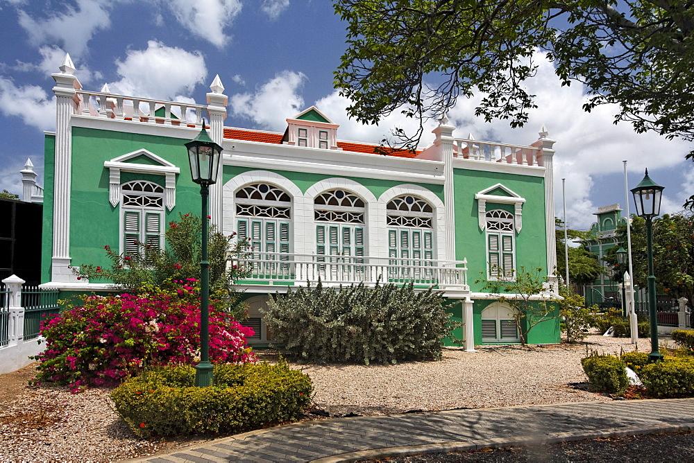 West Indies, Aruba, Oranjestadt, colonial buidling