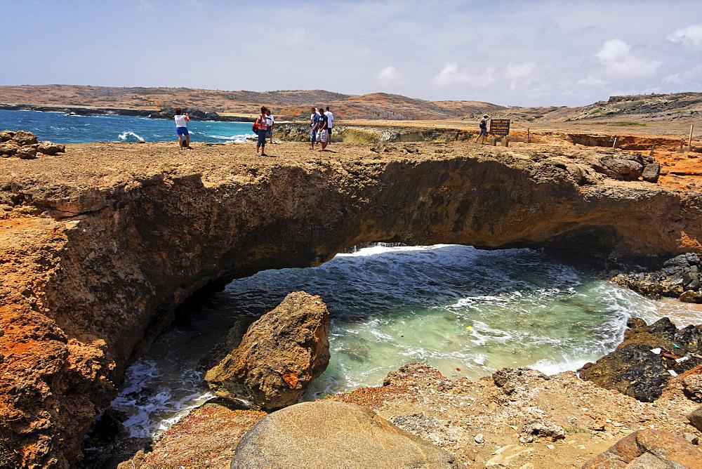 West Indies, Aruba, Natural Bridge, Tourists
