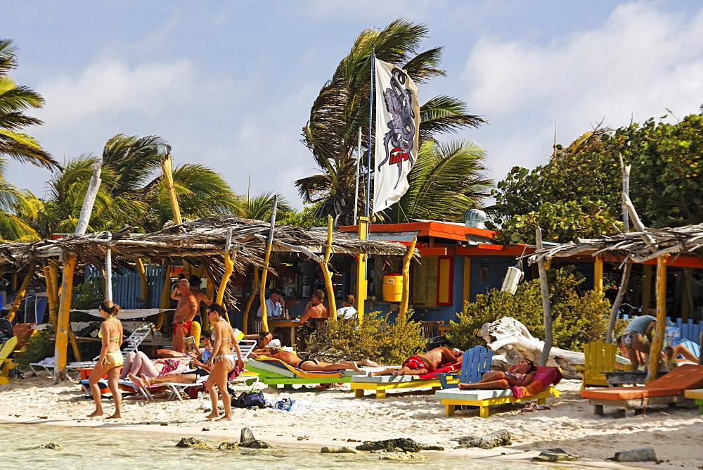 West Indies, Bonaire, Lac Bay Surfer beach