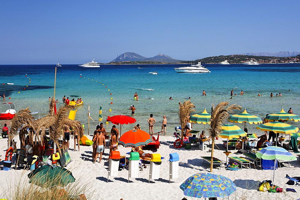 Italy Sardinia Italy Sardinia Costa Smeralda Cala Liscia Ruia beach