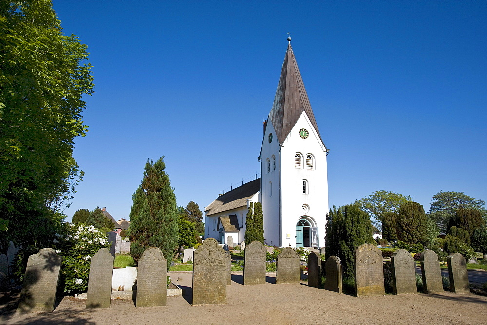 St. clemens Church, Nebel, Amrum Island, North Frisian Islands, Schleswig-Holstein, Germany