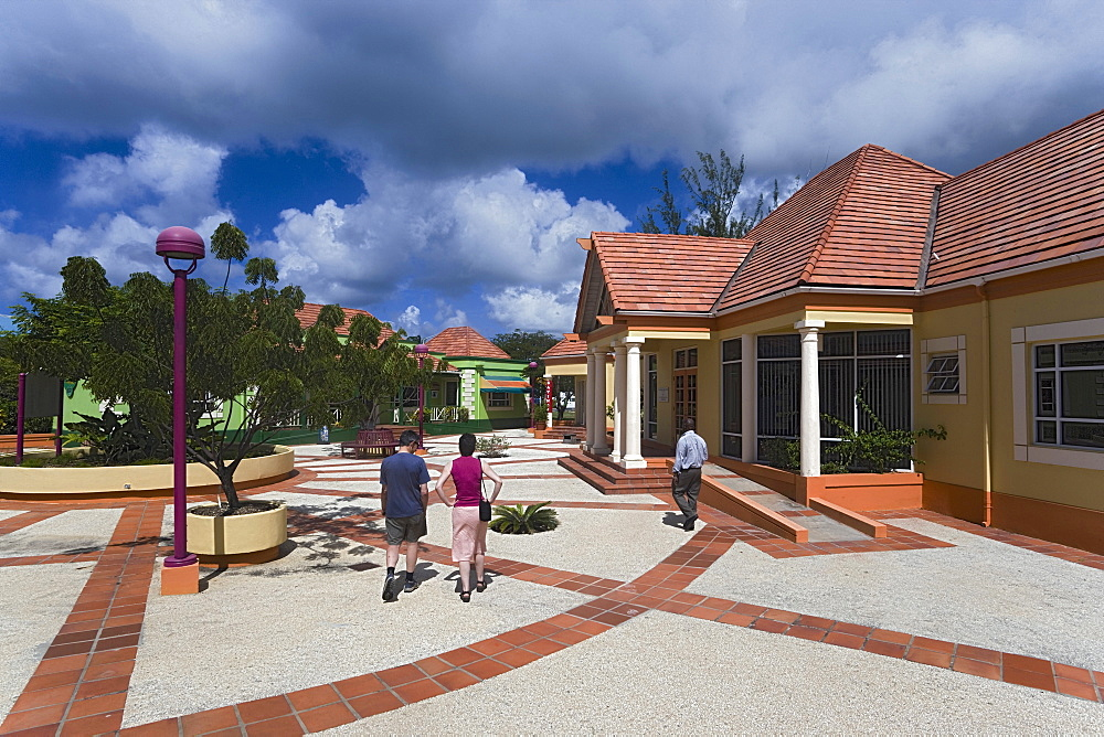 Tourists visiting Pelican Craft Centre, Bridgetown, Barbados, Caribbean