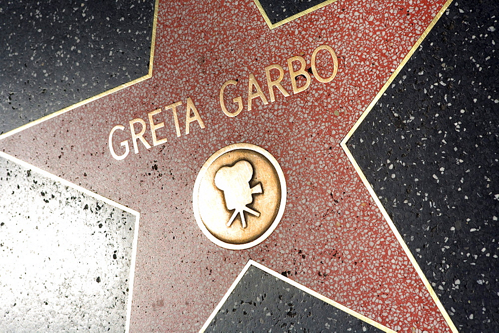 Greta Garbo star, Walk of Fame, Hollywood Boulevard, Los Angeles, California, USA, United States of America